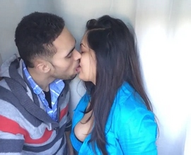 Indian lovers passionate kissing